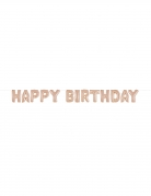 Guirlande de ballons aluminium happy birthday rose gold 35 cm