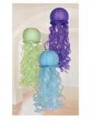 3 Lanternes en papier méduses rêves de sirène 24 cm