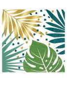 16 Serviettes en papier tropical chic 33 x 33 cm