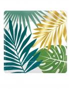 8 Assiettes carrées en carton tropical chic 18 cm
