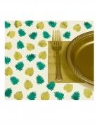 48 Confettis de table en papier tropical chic