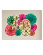 Kit de décoration en papier éventails Aloha chic