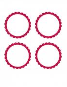 20 Étiquettes rouges à candy bar 5 cm