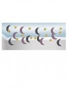 6 Guirlandes en papier lunes et étoiles mille et une nuits 2 m 13