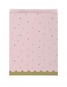 10 Sacs cadeaux en papier cygne royal roses 16,5 x 22,2 cm