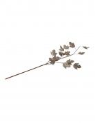 Branche de feuilles d'érable paillettes champagne 75 cm
