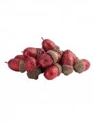 15 Glands paillettes rouges 3 cm