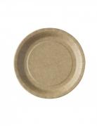 50 Petites assiettes kraft biodégradable et compostable 18 cm