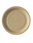 50 Assiettes kraft biodégradable et compostable 23 cm