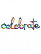 Ballon aluminium celebrate multicolore 149 x 50 cm