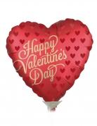 Petit ballon aluminium satin coeur Saint Valentin rouge 23 cm
