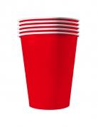 20 Gobelets américains carton recyclable rouges 53cl