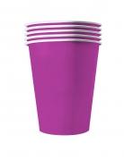 20 Gobelets américains carton recyclable violets 53cl
