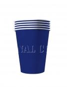 20 Gobelets américains carton recyclable bleus 25 cl
