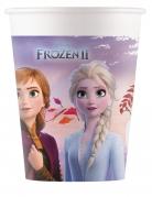 8 Gobelets en carton compostable La Reine des Neiges 2™ 200 ml