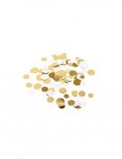 Confettis de table ivoire paillettes dorées métallisées 14 gr 1,5/2/2,5 cm
