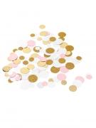 Confettis de table roses, blancs, paillettes or métallisés 14 gr 1,5/2/2,5 cm