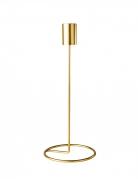 Bougeoir design sur pied métal doré 23 x 9,5 cm