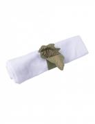 10 Ronds de serviette pampa kaki et dorure or 24,5 x 4 cm