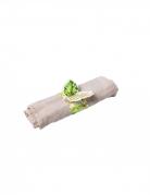 10 Ronds de serviette en carton tropical ivoire avec dorure 23,3 x 4 cm