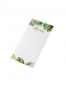 10 Menus en carton tropical ivoire avec dorure 20 x 10 cm