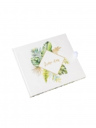 Livre d'or tropical et ivoire avec dorure 22 x 19 cm 68 pages