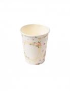 8 Gobelets en carton aquarelle dorés 255 ml