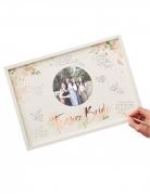 Livre d'or cadre en bois team bride rose gold 32 x 44 x 2 cm
