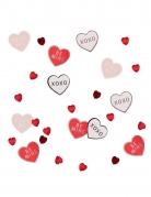 Confettis de table cœurs st valentin roses 14 g