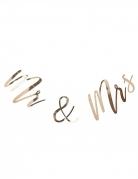 Guirlande en carton Mr & Mrs dorée métallisée 22 cm x 2 m