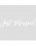 Sticker adhésif pour voiture just married blanc 60 cm