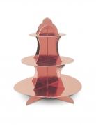 Présentoir à cupcakes en carton rose gold métallisé 31 cm