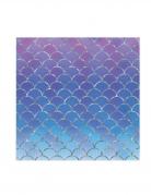16 Serviettes en papier monde des sirènes 33 x 33 cm