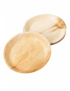 6 Assiettes biodégradables effet bambou 25 cm