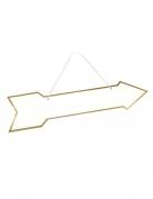 Flèche directionnelle doré métallisé 41 x 10 cm