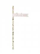 16 Pailles en carton rose gold floral 19 cm