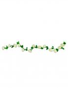 Guirlande de roses blanches 220 cm
