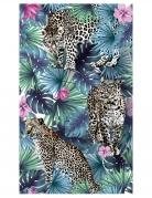 Chemin de table en tissu non tissé léopard jungle 30 cm x 5 m