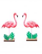 Centre de table en bois flamant rose tropical 15 x 9,8 x 4 cm