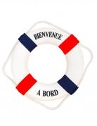 Bouée Bienvenue à bord bleu et rouge 27 cm
