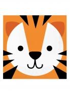 16 Serviettes en papier tête de tigre 33 x 33 cm