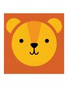 16 Serviettes en papier tête de lion 33 x 33 cm