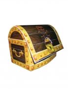 Coffre au trésor de pirate en carton 24 x 18 x 13 cm