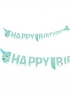 Guirlande en carton Happy Birthday Joyeux narval 2 m x 19 cm