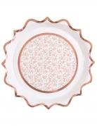 10 Assiettes carton ballerine 22,5 cm