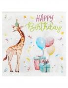 20 Serviettes en papier safari party 33 x 33 cm