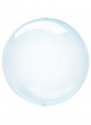 Ballon bulle cristal bleu 25-30 cm