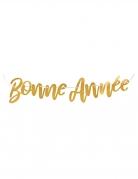Guirlande métallisée Bonne Année dorée 120 x 19 cm