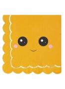 16 Serviettes en papier citrouille sweety 33 x 33 cm