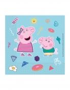 20 Serviettes en papier compostable Peppa Pig™ 33 x 33 cm